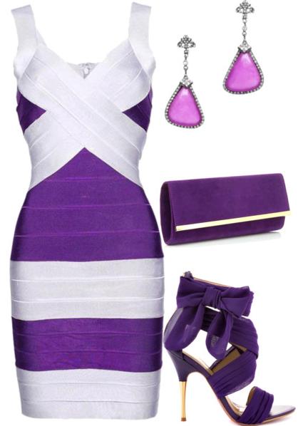 Fashion - Purple and White